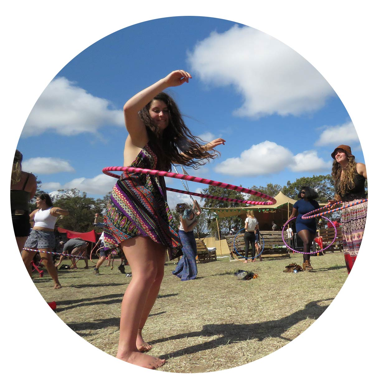 Hoop Flow Love - Book us - wellness for festivals - the awaken station