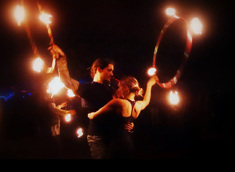 Hoop Flow Love - Elemental Light Artists - Fire and LED Performers - Cape Town