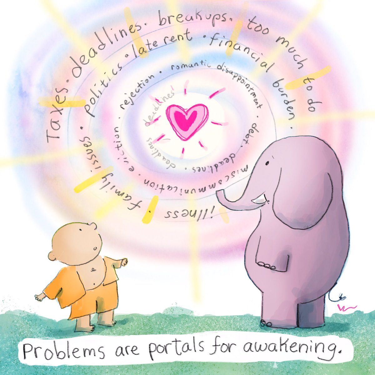 Problems are portals for awakening